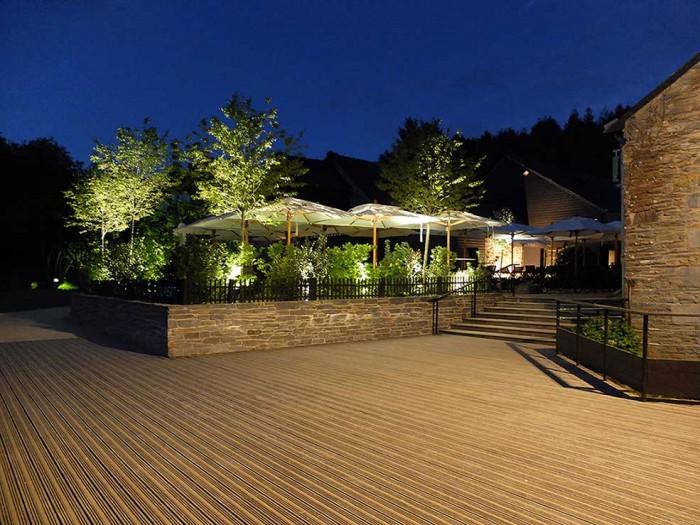 Livraison : Mai 2018, mise en lumière de la Terrasse du végétarium, La Gacilly, Yves Rocher